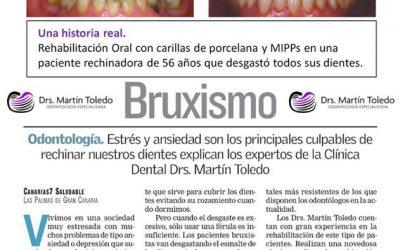 """Articulo """"Bruxismo"""", Canarias 7"""
