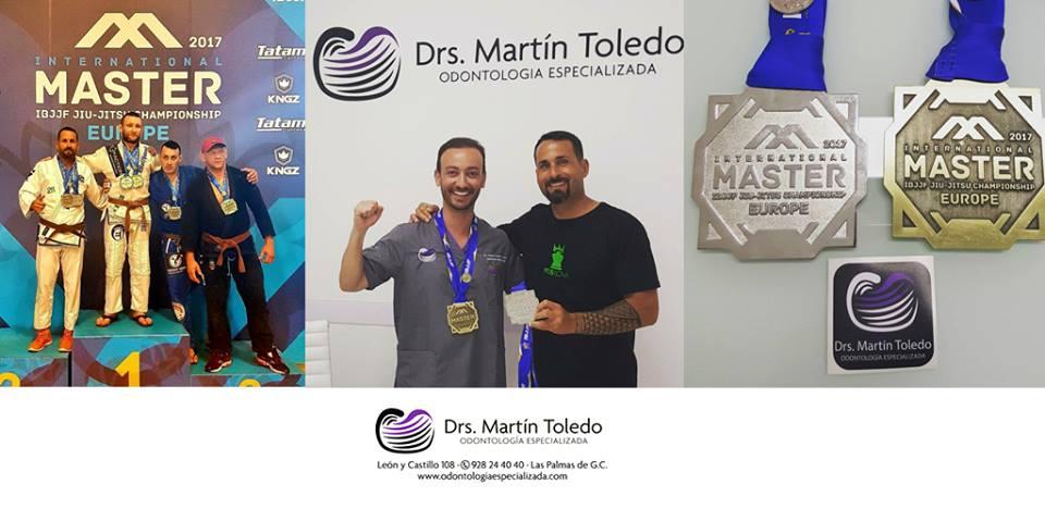 Dario Ojeda, plata y bronce obsoluto en el último International Master Europe de Jiu-Jitsu